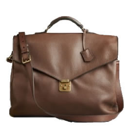 Burberry sof grain calf leather briefcase